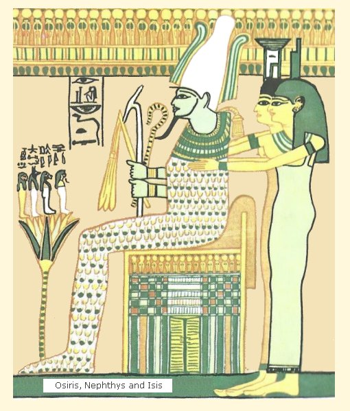 Nephthys and Isis